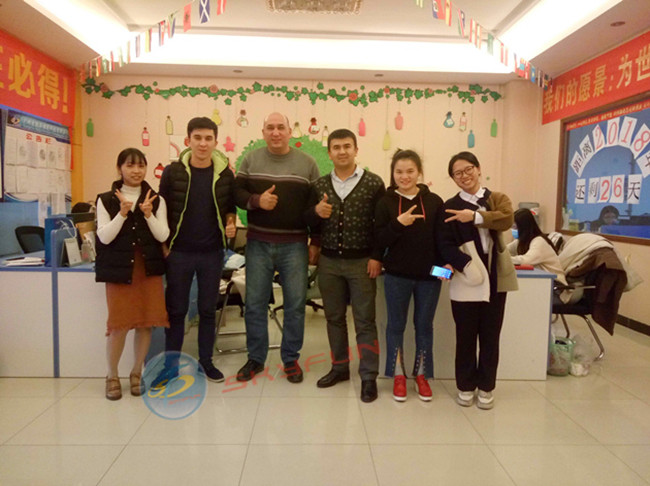 china latest news about Warmly welcome customers from Uzbekistan to visit Skyfun!