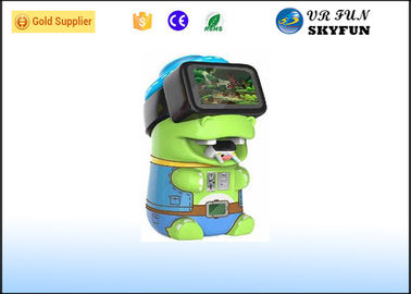 China Kids Coin Operated VR Game Machine Cute Piggy Style With VR Headset supplier