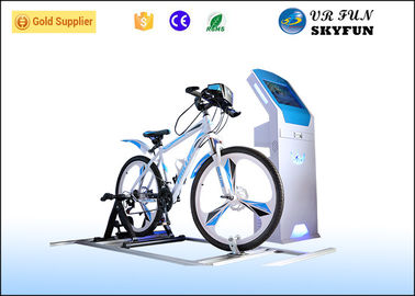 Professional VR Exercise Bike , Virtual Reality Cycling For Theme Park