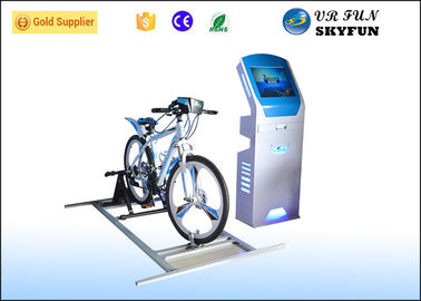 China Indoor Equipment 9D VR Virtual Reality Bike Simulator With Soft Chair supplier