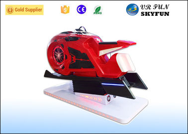 Red Motor Shape Virtual Reality Motorcycle Driving Simulator For Shopping Mall