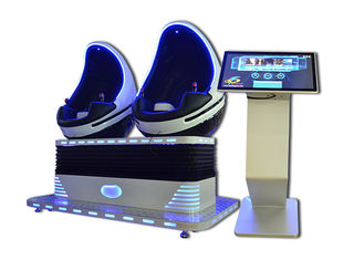 110V / 220V 2 Seats 9D VR Cinema With 22 Inch Touch Screen Player