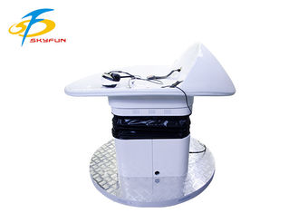 Coin Operated Flying Platform Virtual Reality Slide In White Color 1.5 * 2 * 1.5M