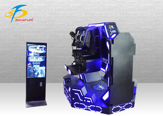 Double 360 degree rotation steel two seats VR cinema game machine with 9 movies