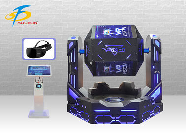 Good Quality 9D VR Simulator & Strong Cabin 9D VR Cinema + Virtual Reality Simulator For 2 Seats 1080 Degree Rotation on sale