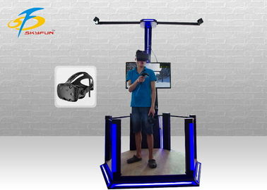 One Player Funny HTC Vive Simulator With Two Game Handles Iron Material
