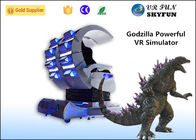 Godzilla Shap Immitated VR Shooting Game Simulator with Double Seats 360 Degree Horizontal Rotation