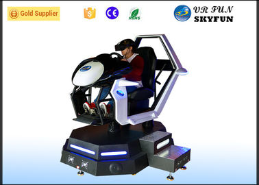 Racing Car Game Virtual Reality Motion Simulator With Steering Wheel