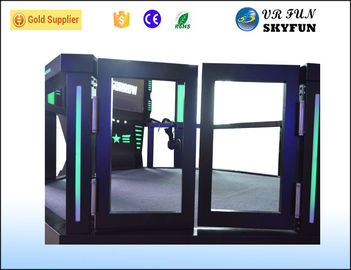 China Free Movement Game HTC VR Simulator , Virtual Shooting Simulator For Shopping Mall factory