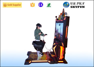 China Adult / Kids 9D VR Shooting Game Machine , Arcade Games Horse Riding Simulator factory