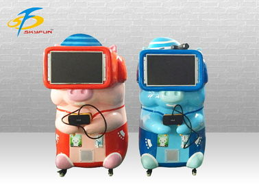 China Blue And Red VR Game Machine With 10 PCS Games Supported Coin System factory