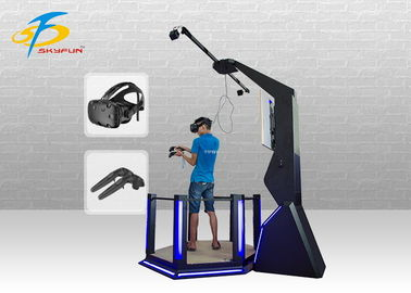 China Arcade Game HTC Vive Simulator / Black Color 9D VR Standing Platform factory
