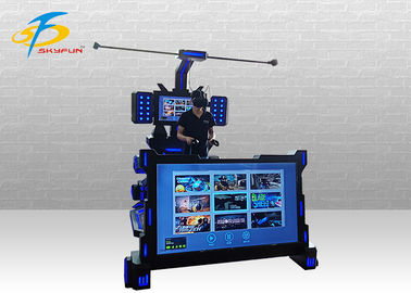 China Music Dance Virtual Reality Shooting Game Machine / 9D VR Simulator factory