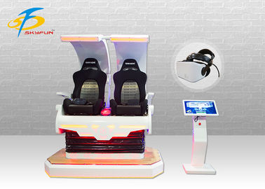 2 Seats 4KW Pink Godzilla VR Gaming Equipment With 360 Rotation Effect