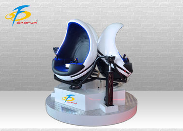 China Triple Seats 9D VR Egg Chair With 360 Rotation / 9D Virtual Reality Machine factory