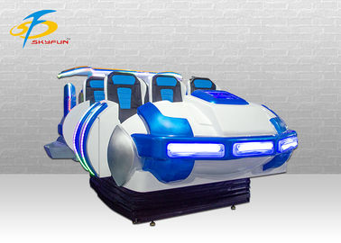 6 Seats Virtual Reality 9D VR Cinema For Amusement Park 2560*1440 Resolution