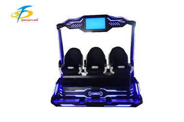 China Three Person Operate 9D VR Simulator For Amusement Durable Leather Seat factory