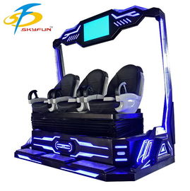 China Three Seats 9D VR Simulator Cinema With Many Games And Movies Experience factory