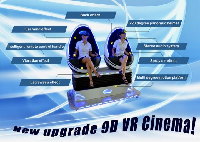 Skyfun Immersive Double Seat 9D VR Egg Chair Second Generation Deepoon Glasses