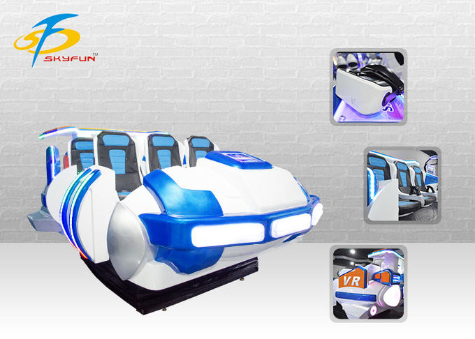 Multiple Seats 9D VR Cinema Virtual Reality Google Simulator For Shopping Mall