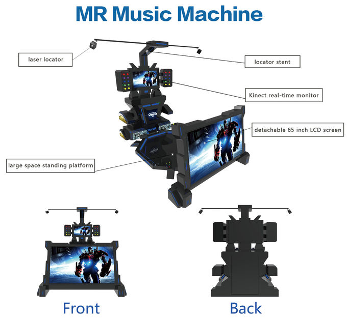 Single Player 9D Virtual Reality Music Game Machine For VR Park With Video Game