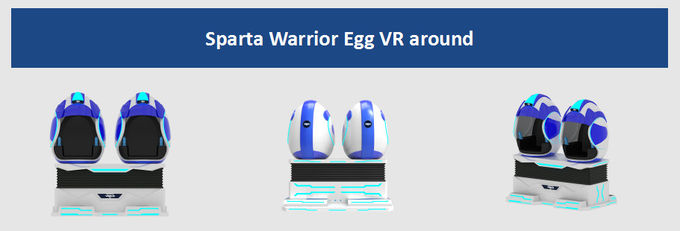 FRP + Metal Material Virtual Reality Equipment With Ladder / 9D VR Egg Chair